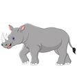 Cartoon rhino vector image vector image