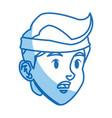 character head boy tired sport style image vector image