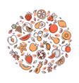 circle fruit set vector image vector image