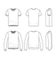 clothing set of male shirt and sweatshirt vector image