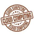 cloud computing brown grunge stamp vector image vector image