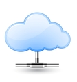 cloud network vector image vector image