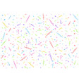 colorful confetti background vector image vector image