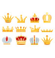 crown golden royal jewelry symbol of king vector image vector image