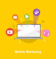 design mobile marketing style collection vector image vector image
