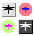 dragonfly flat icon vector image vector image