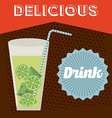 drink retro label vector image vector image
