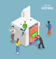 e-voting system flat isometric conceptual vector image vector image