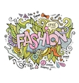 Fashion hand lettering and doodles elements vector image vector image