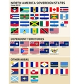flags north america 2013 vector image