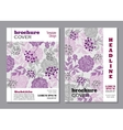 Floral brochure cover design vector image vector image
