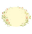 flower frame summer flowers delicate shades vector image