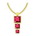 garnet jewelry icon realistic style vector image vector image