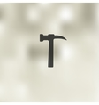 hammer icon on blurred background vector image vector image