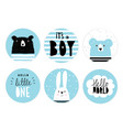 hand drawn candy bar baby shower tag set vector image vector image