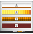 Handmade banners or bars set for design vector image vector image