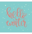 Hello winter lettering vector image vector image