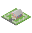 house isometric 3d vector image vector image