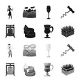 isolated object farm and vineyard icon vector image vector image