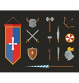 knight armour with helmet chest plate shield vector image