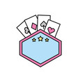 label with poker cards vector image vector image