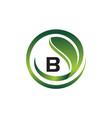 leaf initial b logo design template