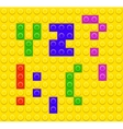 Lego blocks alphabet 5 vector image vector image