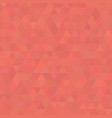 living coral shades background square of triangles vector image