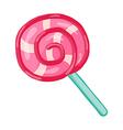 lollipop swirl vector image vector image