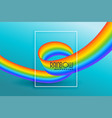 modern rainbow wave abstract background vector image vector image