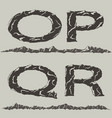 mountains silhouettes font vector image vector image