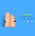 my best friend finger poster vector image