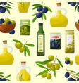 pattern with olive products vector image