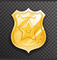 police officer gold badge icon protection insignia vector image vector image