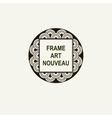 Premium Art Nouveau frame art deco monogram vector image vector image