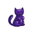 purple cartoon cat for halloween vector image