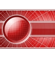 Red background with globe vector image vector image
