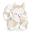 red cat on a white background vector image