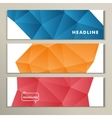 Set abstract bright pictures of red orange blue vector image