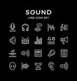 set line icons of sound vector image
