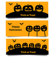 set of halloween web banner vector image vector image