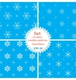 Set of winter seamless patterns with vector image vector image