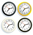 set round wall clock with a yellow black and vector image vector image