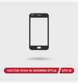 smartphone icon in modern style for web site and vector image vector image