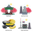 south korea design concept vector image vector image