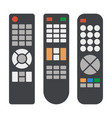 tv remote control icons set on white background vector image vector image