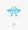ufo thin line icon modern vector image