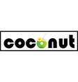 Word design with word coconut vector image vector image