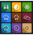 Weather flat icons set 28 vector image