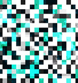 blue square seamless pattern with blob effect vector image